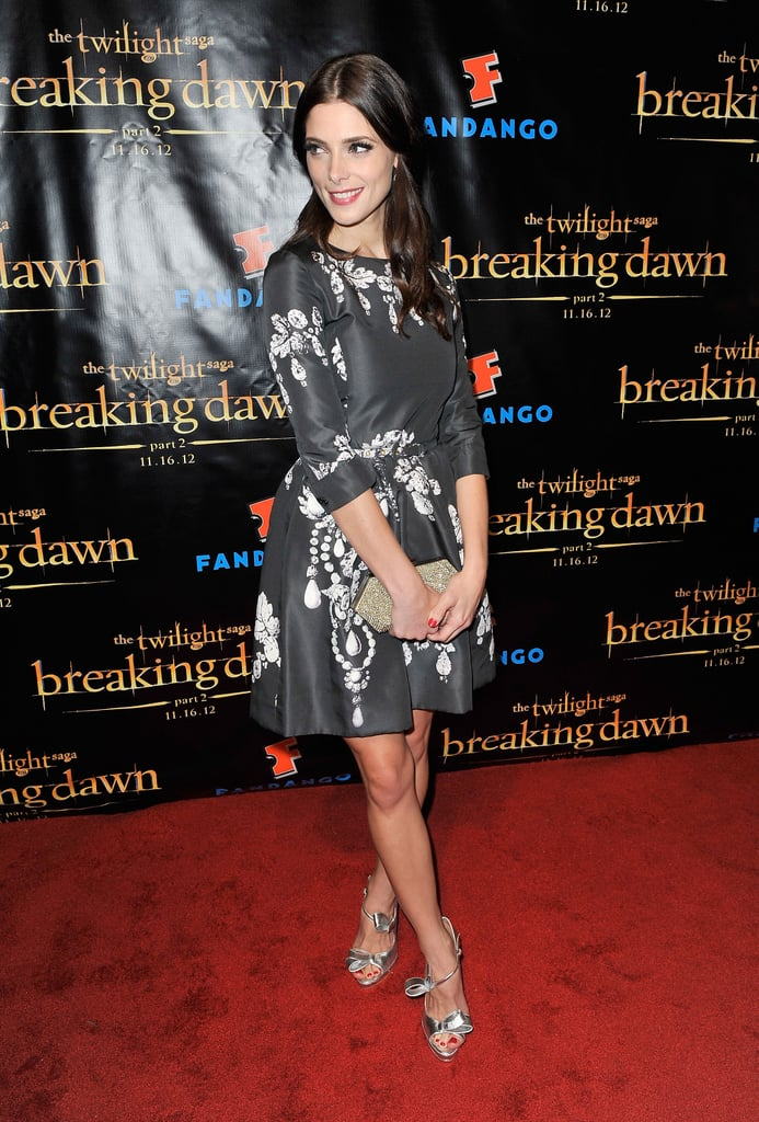 Ashley Greene posed on the red carpet of the Breaking Dawn Part 2 party at Comic-Con.