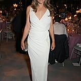 Elizabeth Hurley's Plunging White Dress