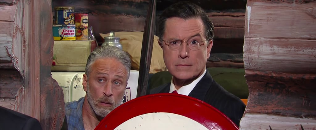 He's Back! Jon Stewart Reunites With Stephen Colbert in This Hilarious Clip