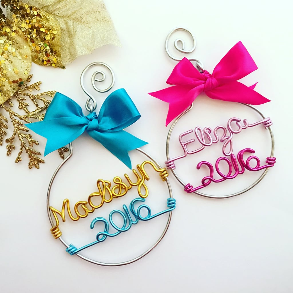 Wire Name And Year Ornament  Personalized Christmas Ornaments For Kids And  Families  Popsugar Moms Photo 6