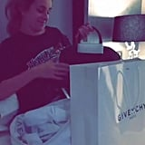 Selena Gomez Giving Her Friend a Givenchy Bag on Snapchat