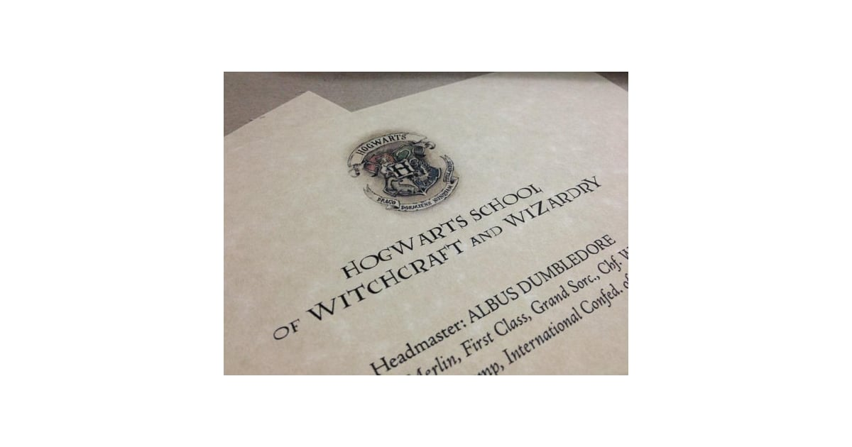 Receive A Hogwarts Acceptance Letter