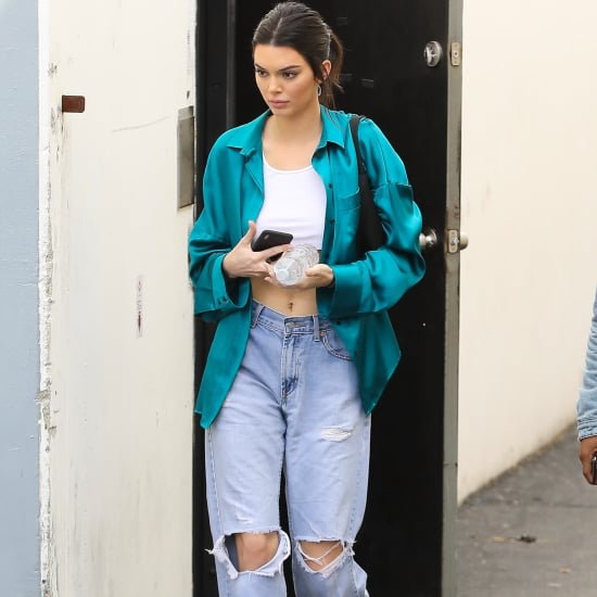 Kendall Jenner Wearing Baggy Jeans
