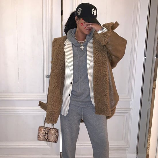 Rihanna Wears Her Oversize Shearling Fenty Coat 2 Ways