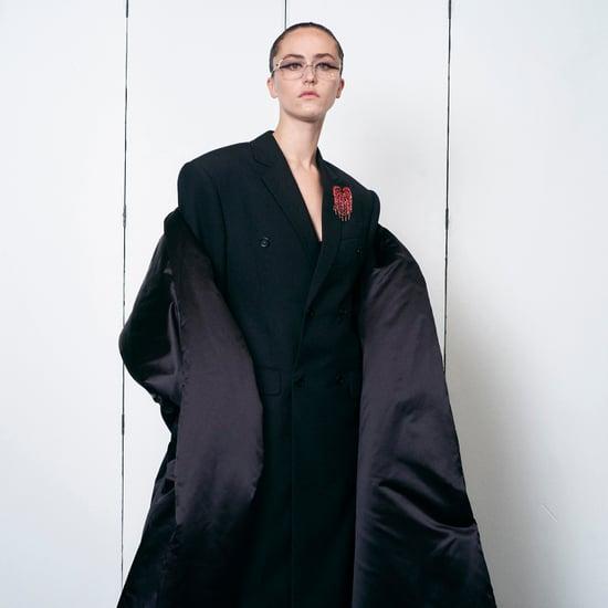 Ella Emhoff Models in Balenciaga Couture Runway Show