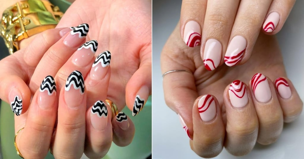 Squiggly French Tip Manicure Trend Ideas For 2021