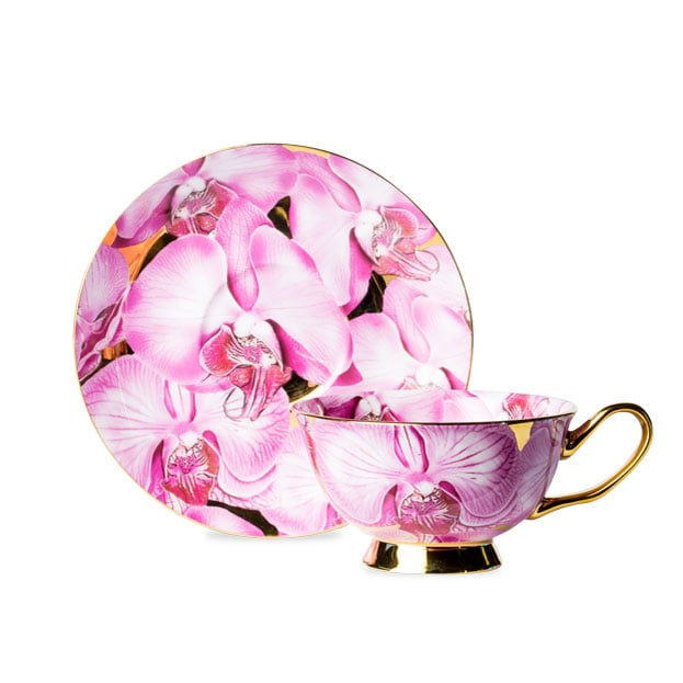 T2 Pink Luscious Cup and Saucer, $65
