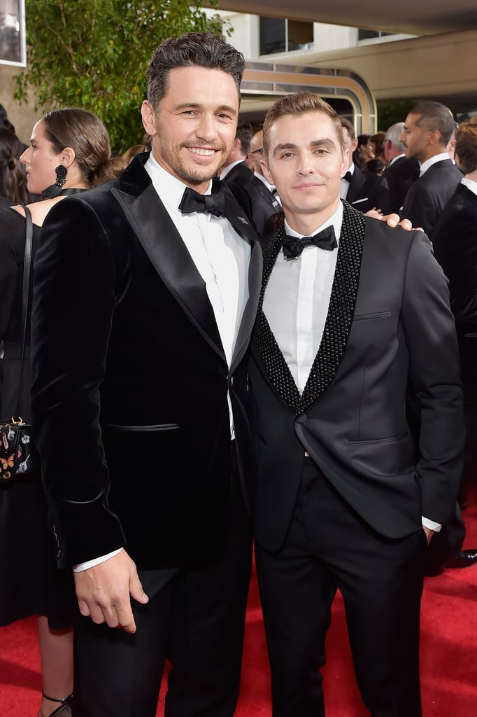 It was a family affair for James Franco at the Golden Globe Awards in LA on Sunday night. The actor, who took home the award for best actor in a musical or comedy for his role in The Disaster Artist, popped up at the ceremony with his younger brother, Dave. As if that wasn't exciting enough, Dave was also accompanied by his wife, actress Alison Brie, and the two were as cute as can be while posing for pictures together. The two brothers stayed close throughout the night, and James even brought Dave and The Room director Tommy Wiseau up on stage with him during his acceptance speech. We just love seeing these two together!      Related:                                                                                                           Well, This Is Awkward: Hugh Jackman Looks Unimpressed With James Franco's Win