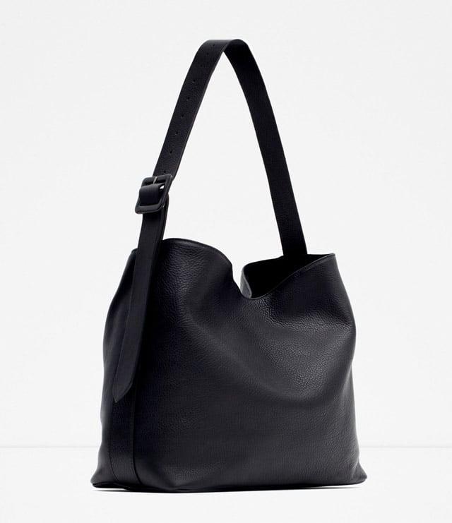 Zara Leather Bucket Bag w/ Buckle ($119)