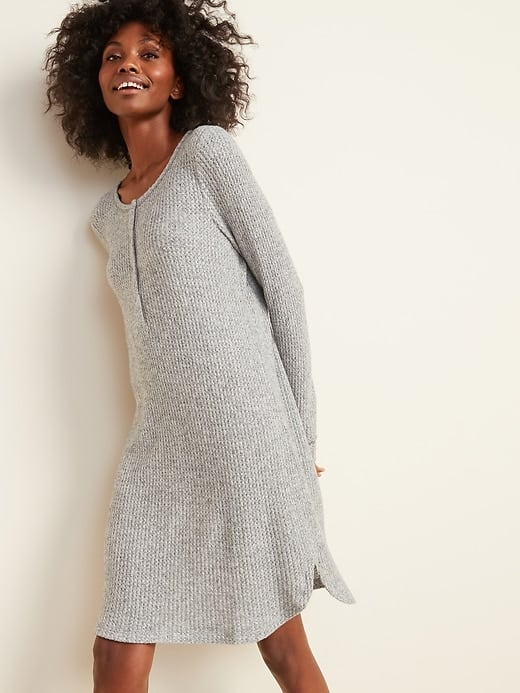 Old Navy Cozy Thermal-Knit Henley Nightgown