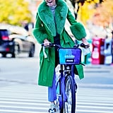 Scroll to See More Pics of Kendall in Her Green Coat and Shop It For Yourself