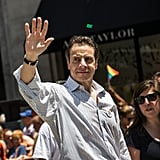 New York Governor Andrew Cuomo walked with the NYC Gay Pride Parade.