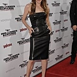 Angelina Jolie joined Brad Pitt at his August 2009 LA premiere of Inglourious Basterds.