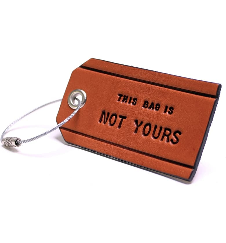 Boarding Pass This Bag Is Not Yours Luggage Tag