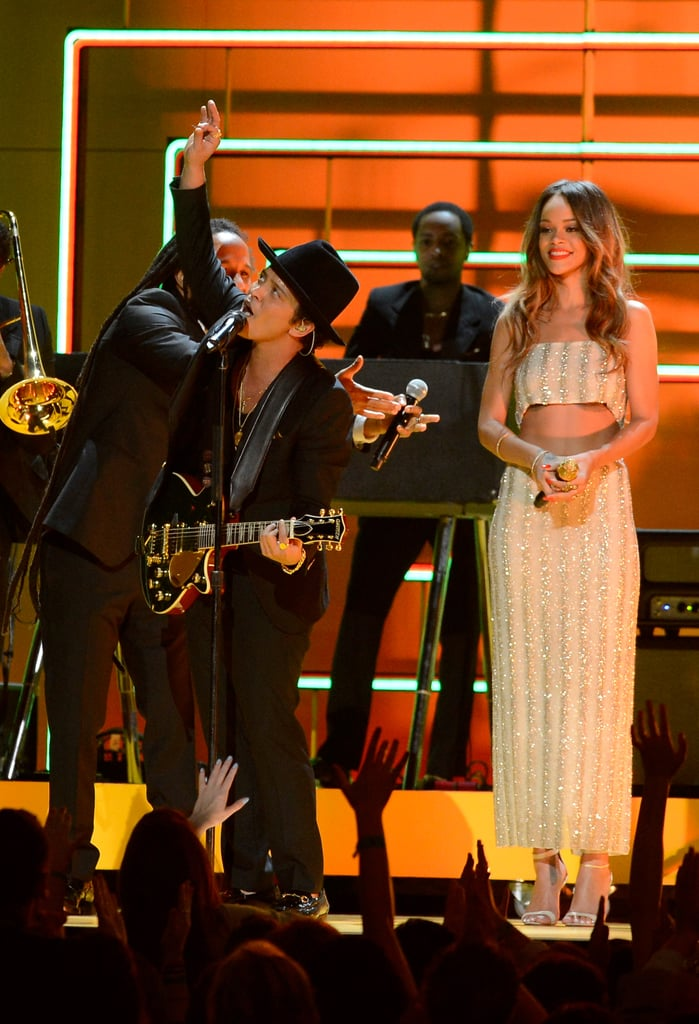 Bruno Mars and Rihanna shared the stage.