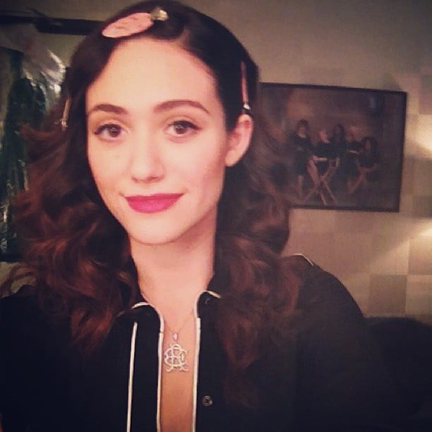 Emmy Rossum got dolled up for a performance on The View. Source: Instagram user emmyrossum