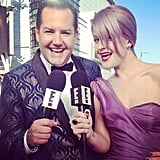 Kelly Osbourne worked the Emmys red carpet with Ross Mathews. Source: Instagram user kellyosbourne