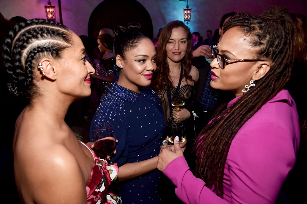 Pictured: Tracee Ellis Ross, Tessa Thompson, and Ava DuVernay