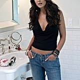 This is how I like to remember Sloan most often: in her going-out top and low-slung jeans.