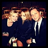 Nicole Richie joined Kirsten Dunst and Derek Blasberg at an event. Source: Instagram user derekblasberg