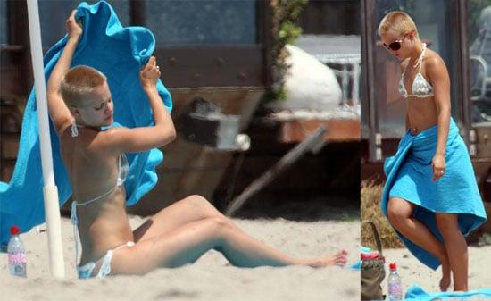 Mena Is Nearly Bald And In A Bikini