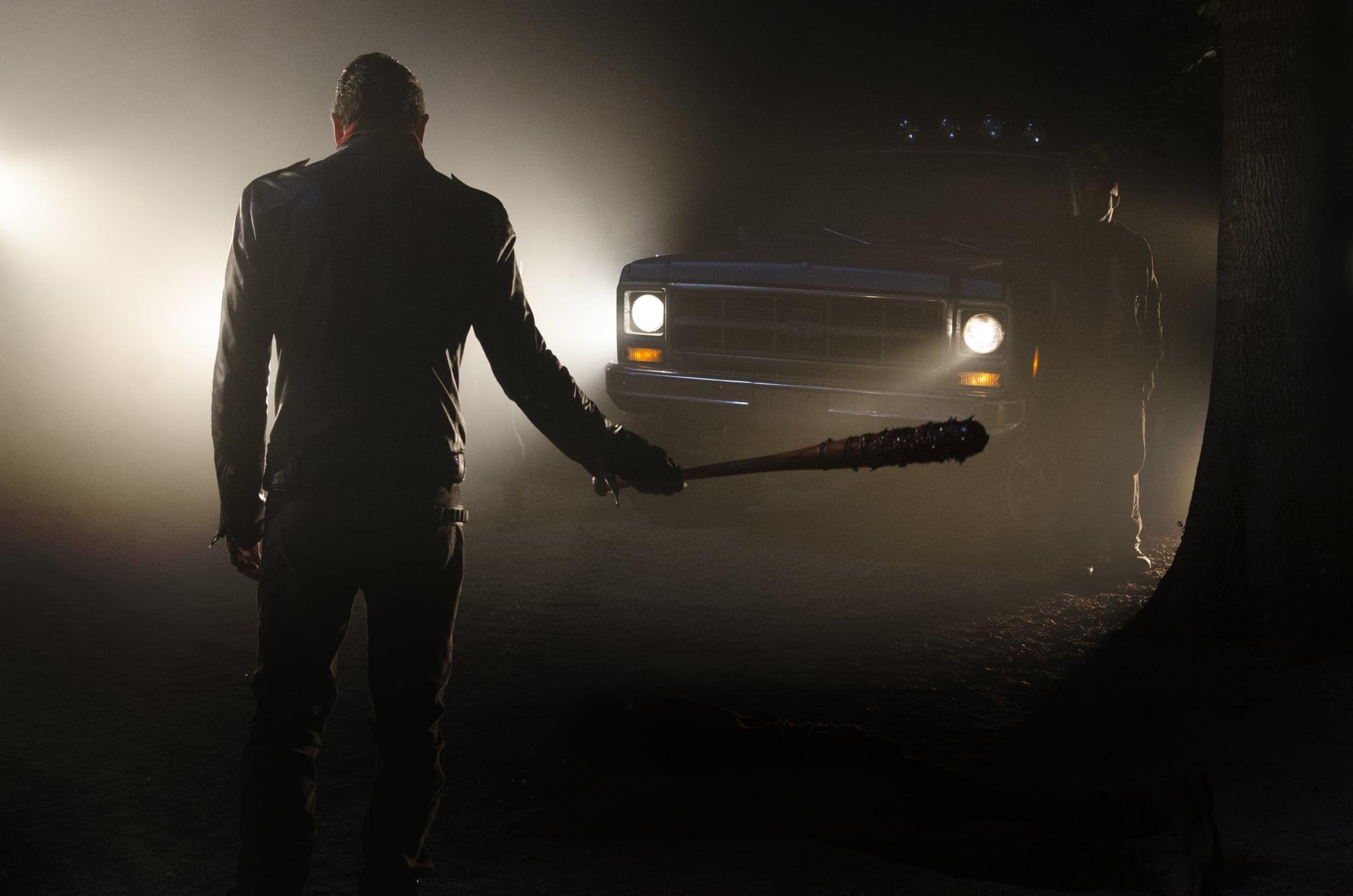 >>> NOT TO BE USED UNTIL 10/24/16 at 1:00 AM EST <<< Jeffrey Dean Morgan as Negan - The Walking Dead _ Season 7, Episode 1 - Photo Credit: Gene Page/AMC