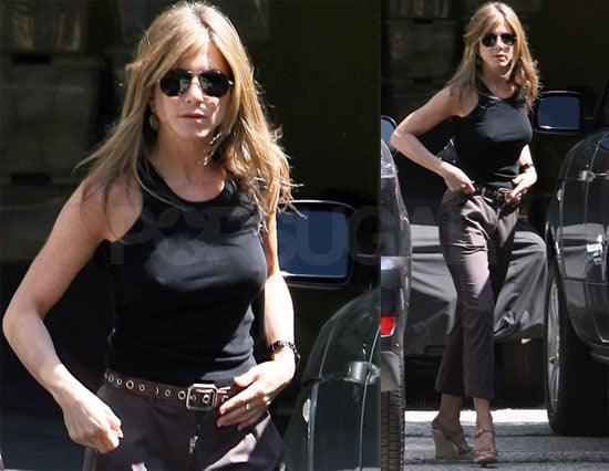 Photos of Jennifer Aniston Visiting a Friend in Los Angeles
