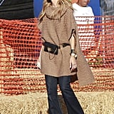 Rachel Zoe wore a camel knit for an outing in LA.