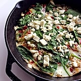 """Fast Frittatas Frittatas are one of the easiest (one pan, yeah!), quickest, and healthiest meals to get on the table, says Katherine Brooking, MS, RD, cofounder of Appetite For Health. """"Eggs pair perfectly with veggies, so you can use pretty much any veggies you have on hand. Some of my favorite combinations include kale, chicken sausage, and mushrooms or this spinach, mushroom, and leek frittata recipe."""" Perfect Panzanella I make a fresh and satisfying panzanella or Tuscan bread salad at least once a week. I usually don't have a loaf of stale bread available, so I simply bake chunks of any artisan whole-wheat bread. I use tomatoes, red onion, cucumber, and bell pepper, and dress with olive oil and vinegar. Sometimes, I'll mix in cooked diced chicken (from a salad bar) for protein. Here's an easy panzanella recipe that you have to try!"""