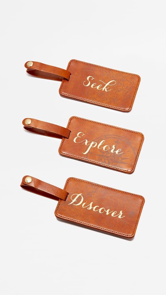 Shopbop @Home Seek Explore Discover Luggage Tag Box Set