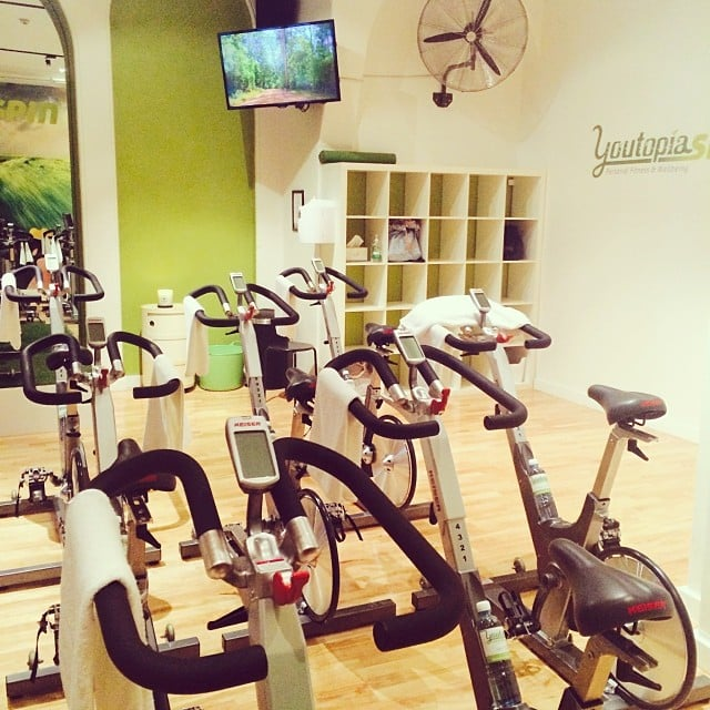 The most relaxing spin studio yet. #youtopia Source: Instagram user popsugarau