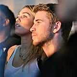 Miley Cyrus and Liam Hemsworth checked out the scene at the launch of Google Music back in November 2011.