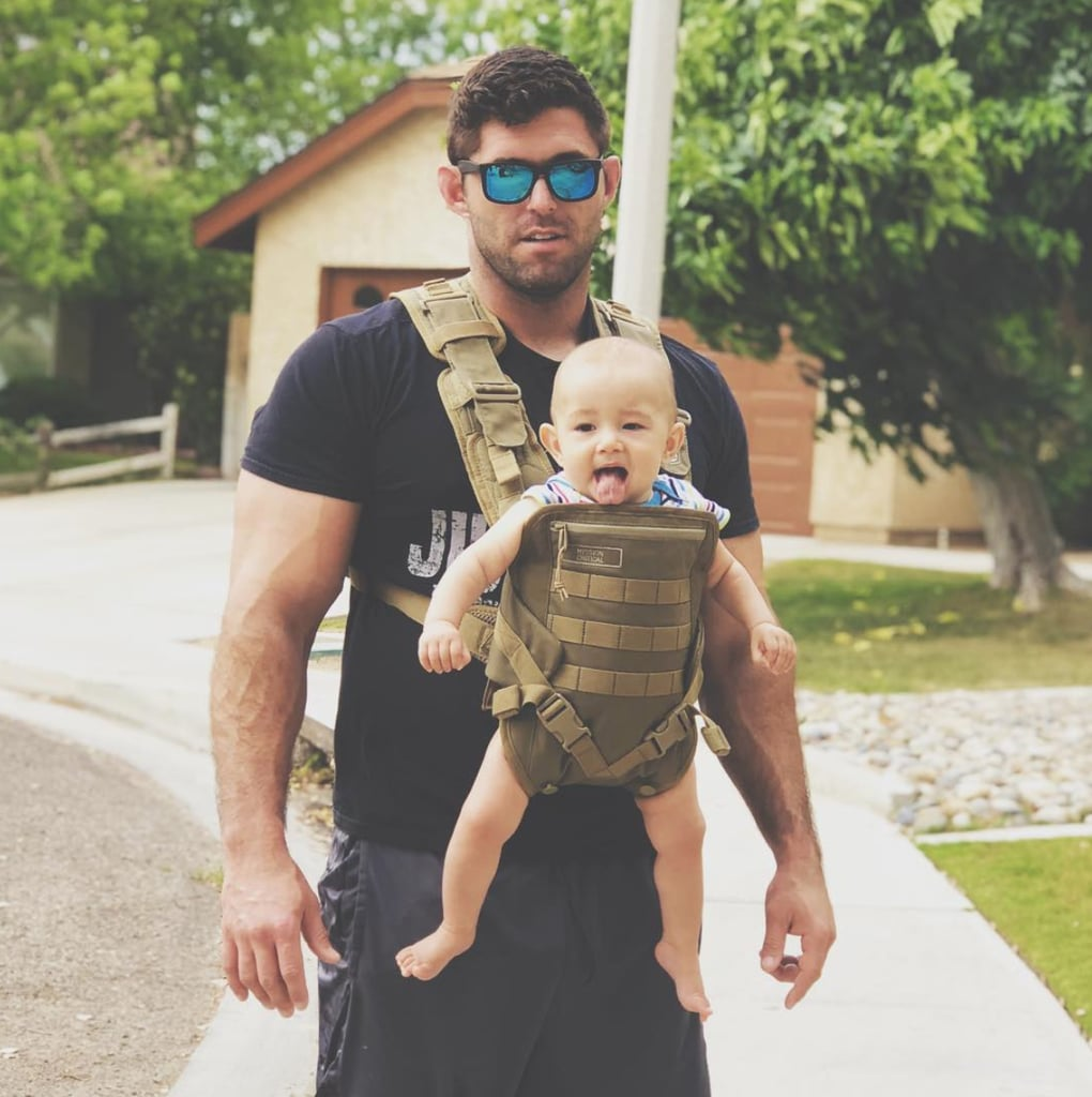 Yeah, we're going to need the fire department over here: the post ahead contains photos of men wearing their babies, and it's the hottest thing we've seen since man discovered fire (funny the things that leave you hot under the collar once you've become a parent, huh?). As if a man simply holding a baby isn't already hotter than a Summer heatwave (doesn't even need to be his baby, but bonus points if, as Maury Povich says, they are the father), dads sporting various carriers and slings with their babes in tow is downright dreamy. Ahead, find several dads who are about to prove that there isn't anything much sexier than a dad who's baby-wearing. (You've been warned.) (Enjoy.)      Related:                                                                                                           These Shirtless Dads Doing Skin-to-Skin With Their Babies Will Make Your Ovaries Burst