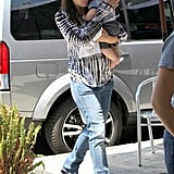 Jennifer Garner carried her son Samuel Affleck during a trip to Baskin-Robbins in LA.
