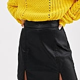 ASOS Design Petite Denim Coated Mini Skirt