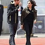 """أبريل: حضرت ميغان وهاري المنافسات التأهيليّة لفريق المملكة المتّحدة لألعاب """"إنفكتوس"""" 2018 في مدينة باث بإنجلترا."""