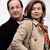 Valérie arrived with partner Francois Hollande for a presidential debate.