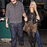 Eric Johnson and Jessica Simpson out in NYC.