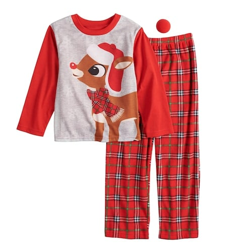 Jammies For Your Families Rudolph the Red-Nosed Reindeer Pajama Set ... e85e6e14c