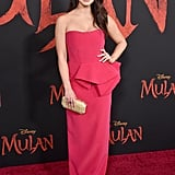 Auli'i Cravalho at the World Premiere of Mulan in LA