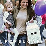 Bethenny Frankel and Bryn Hoppy stopped by Build-a-Bear in NYC for a birthday party.