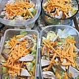 Chicken and cheddar with fresh salad