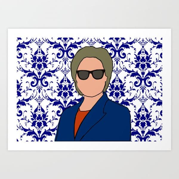 Hillary Clinton Art Print ($15-$50)
