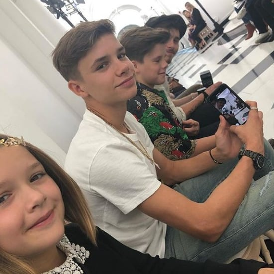 The Beckhams at Victoria Beckham Fashion Show September 2018