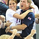 Prince William and Kate Middleton jumped for joy during an emotional day of watching Olympic cycling in 2012.