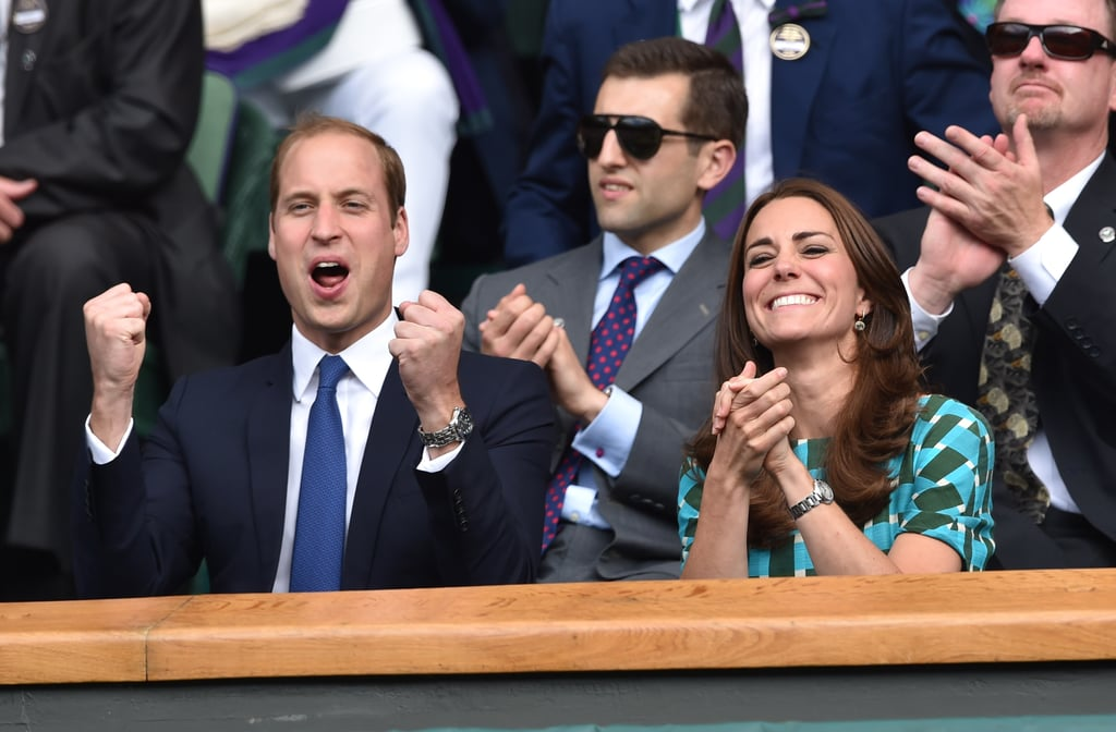 Prince William and Kate Middleton got animated.