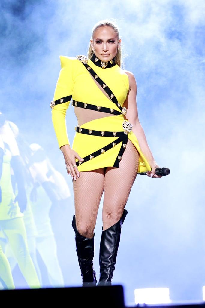 J Lo's Roberto Cavalli Dress at the Global Citizen Concert