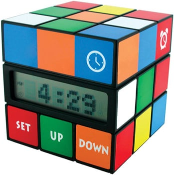 Rubik's Cube Alarm Clock: Totally Geeky or Geek Chic?