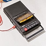 Retro Shoebox Cassette Tape Recorder and USB Player
