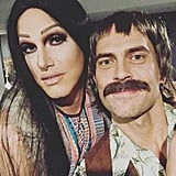 Cheyenne Jackson and Jason Landau as Cher and Sonny in 2017